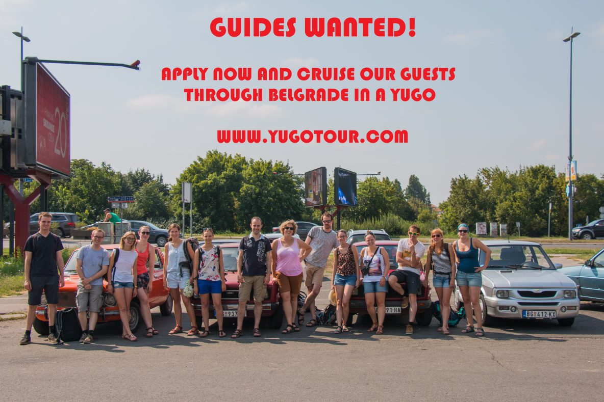 YugoTour Guides Wanted
