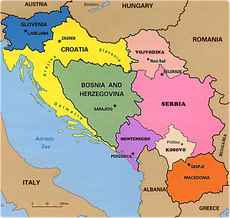 Map of Yugoslavia