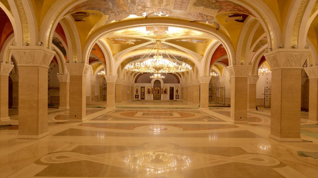 the crypt of the church of saint sava